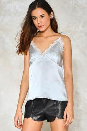 Lace For Words Satin Top