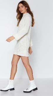 Let's Turn Up Sweater Dress