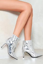 Liquid State Metallic Bootie