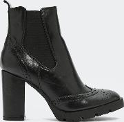 Midnight City Faux Leather Bootie