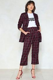 Mind Your Business Check Pants