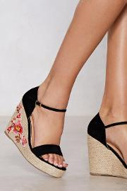More Of A Grower Embroidered Wedge