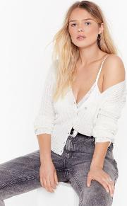 No Chills Cropped Button Down Cardigan