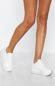 On The Right Stack Faux Leather Sneaker