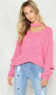 Our Zips Are Sealed Choker Sweater