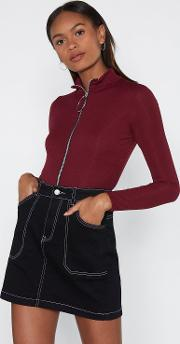 Our Zips Are Sealed Crop Top