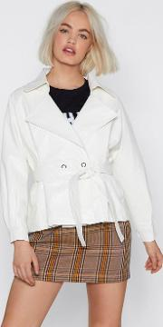 Play The Hand You're Belt Faux Leather Jacket