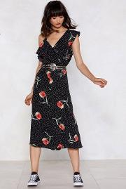Print To The Finish Line Floral Jumpsuit