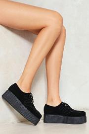 Reach Out I'll Be There Vegan Suede Creeper