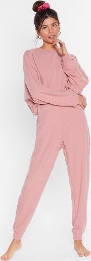 Recycled Let It Rest Sweater And Joggers Lounge Set