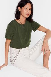 Recycled To Crop It Off Jersey Tee
