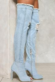 Rise Above It Over The Knee Denim Boot
