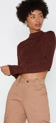 Rock Around The Mock Cropped Sweater