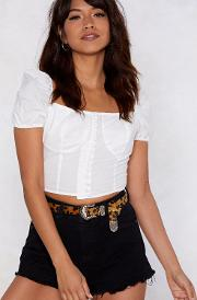Rock That Bodice Crop Blouse