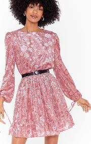 Ruffle Some Feathers Floral Mini Dress