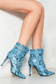 Snake My Day Lace Up Bootie