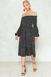 Swing In Our Direction Polka Dot Dress