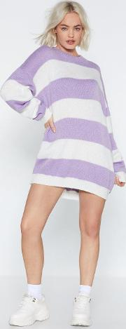 That Stripe Of Girl Sweater Dress