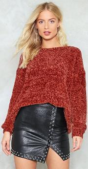 The Bigger The Better Chenille Sweater