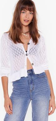 The Pointelle Deal Button Down Cardigan