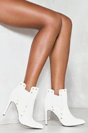 They Don't Stud A Chance Vegan Leather Bootie