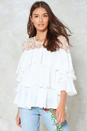 Tier And Dear To You Ruffle Blouse