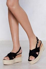 Up The Ante Platform Sandal