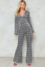 V Done With It Flare Jumpsuit