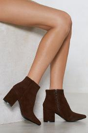 Vegan Suede Our Wardrobe Ankle Bootie