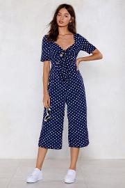 We Like This A Polka Dot Cropped Jumpsuit