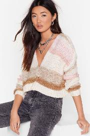 What's Your Stripe Cropped Knit Cardigan