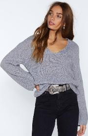 You Had Knit Coming V Neck Sweater