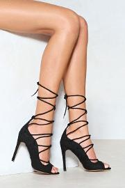 You're A Catch Lace Up Heel
