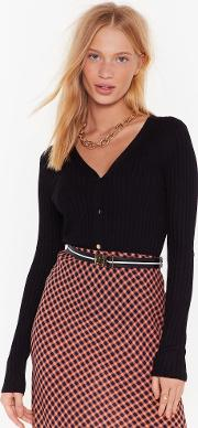 You're Worth Knit Button Down Ribbed Cardigan