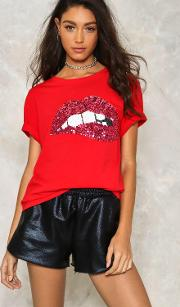 Words In My Mouth Sequin Tee