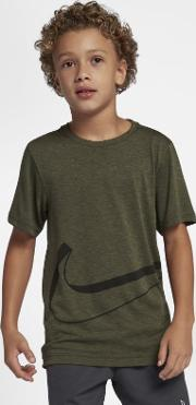Dri Fit Breathe Older Kids' Boys' Short Sleeve Training Top