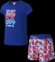 Fc Barcelona Two Piece Younger Kids' Girls' Pyjamas