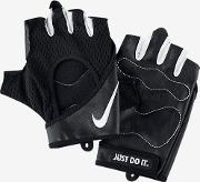 Perforated Wrap Women's Training Gloves Black