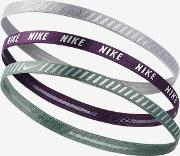 Printed Hazard Stripe Assorted Headbands 3 Pack Not Applicable