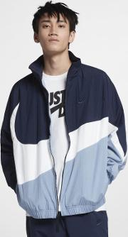 Sportswear' Swoosh' Loose Fit Woven Windbreaker