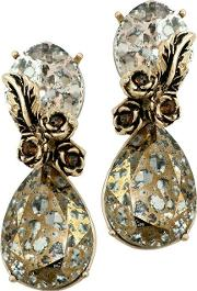 Gold Toned Classic Autumn Earrings