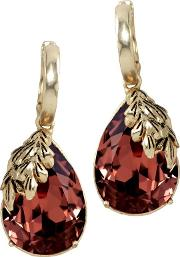 Wine Red Autumn Hoops