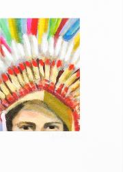 'headdress Son' Print By Genevieve French Limited Edition