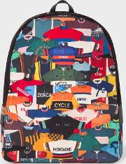 Men's 'cycling Jersey' Print Canvas Backpack