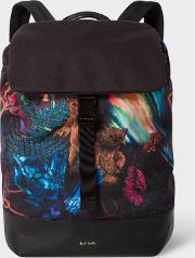 Men's 'explorer' Print Flap Backpack
