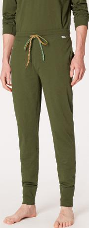 Men's Green Jersey Cotton Lounge Pants