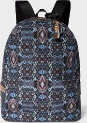 Men's 'mini Kaleidoscope' Print Canvas Backpack