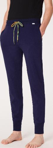 Men's Navy Cotton Jersey Lounge Pants