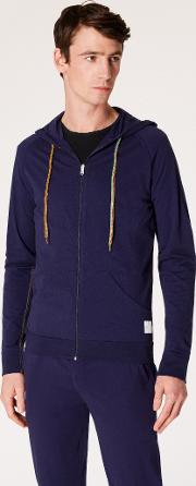 Men's Navy Jersey Cotton Lounge Hoodie