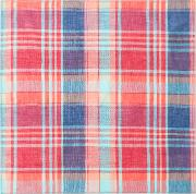 Men's Red And Blue Check Pocket Square